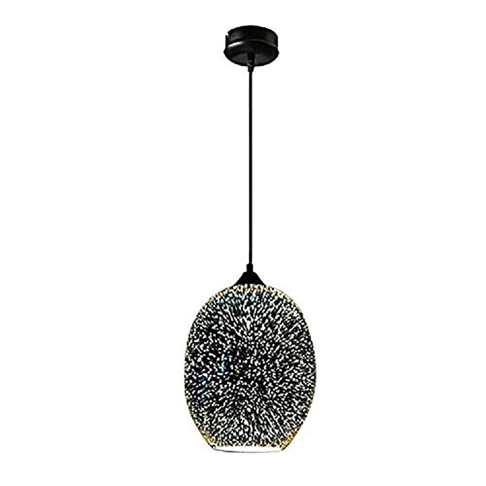LgoodL Modern 3D Glass Lampshade Drop Light Fireworks Chandeliers Ceiling Lamp Fixture Pendant Lighting