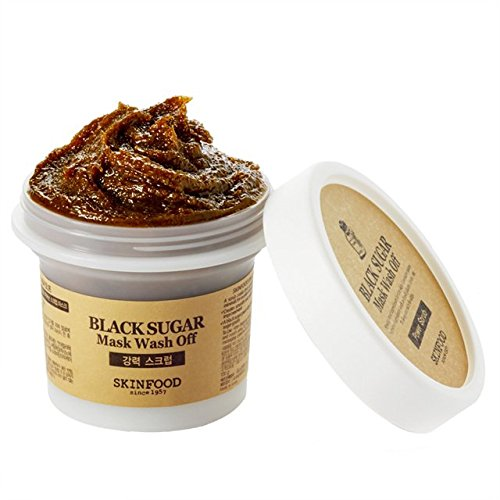 What Korean skin care product is best. Skinfood Black Sugar Mask Wash Off Exfoliator, 3.53 Ounce #koreanskincare
