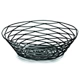 "TableCraft Products BK17508 Basket, Round, 8"" x 2"", Black Metal"