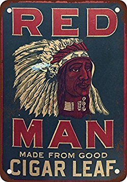 Chewing Tobacco Tin - Red Man Chewing Tobacco Vintage Look Reproduction Metal Tin Sign 12X18 Inches 2
