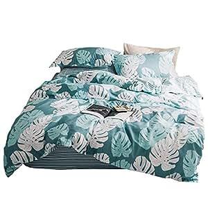 GOOFUN-BJ1S 2 Piece Quilt Cover Set, Super Soft Duvet Cover Bedding Set Includes 1 Pillowcase Single Size