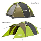 Cheap Makino 2 person Tent for Family Camping with Rainfly, Grass Green