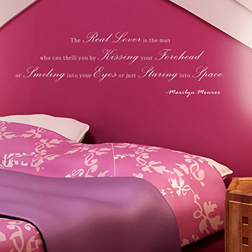 Pop Decors WL-0090-Vb Inspirational Quote Wall Decal, The Real Lover is The Man