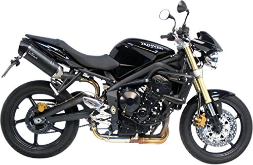 Vince Fiber Leo Carbon (08-12 TRIUMPH STR-TRIPLE: Leo Vince LV One EVO Dual Slip-On Exhaust (Carbon Fiber))
