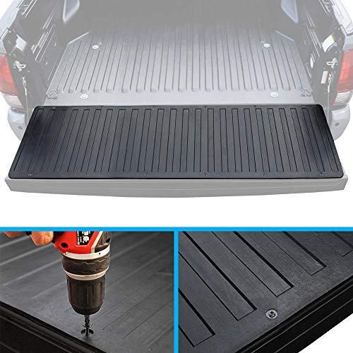 (BDK Heavy-Duty Utility Truck Bed Tailgate Mat - Thick Rubber Cargo Liner for Pickups)