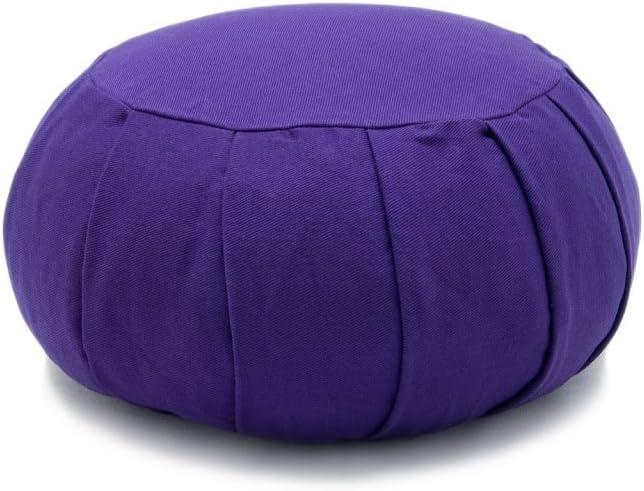 Sage Deluxe Kapok or Buckwheat Hull Filled Zafu Meditation Cushion Yoga Pillow