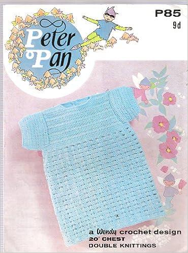Peter Pan 85 Vintage Crochet Pattern Crochet Babys Dress Amazon