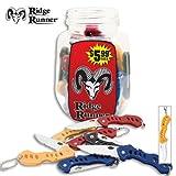 Ridge Runner 36 Piece Folding Knife Jar, Outdoor Stuffs