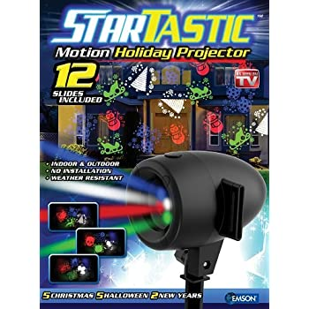 startastic holiday laser lights christmas projector movie slide 12 modes as seen on tv