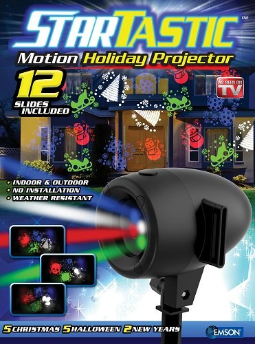 Startastic Holiday Laser Lights Christmas Projector Movie Slide 12 Modes, As Seen on TV! - Holiday Laser
