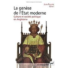 Genèse de l'Etat moderne (La): Culture et société politique Angleterre