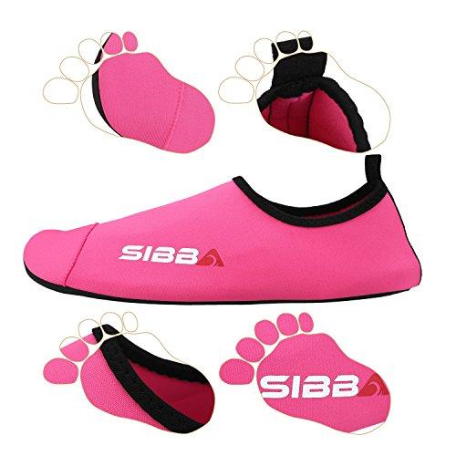 Sibba Unisex Barfota Vatten Huden Aqua Skor Snabbtorkande Strand Simma Surf Yoga Motion Skor För Kvinnor Män Och Barn Ökade Rosa