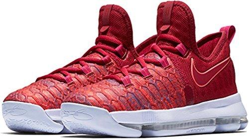 Nike Kids KD9 (GS) Basketball Shoe (3.5Y, University Red/Palest Purple) by NIKE