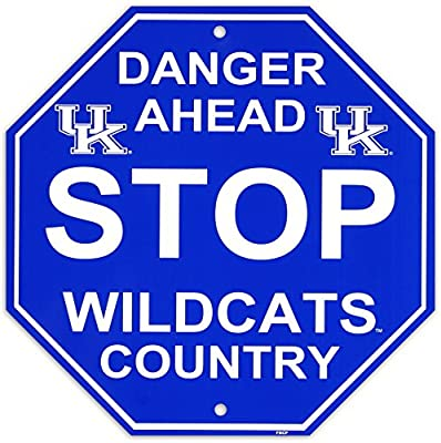 University of Kentucky Stop Sign Wall Sign 12 x 12in
