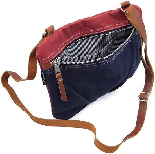 brown waxed canvas vegan messenger bag \u2022 geometric print courier crossbody bag green triangle waxed canvas crossbody bag \u2022 pink