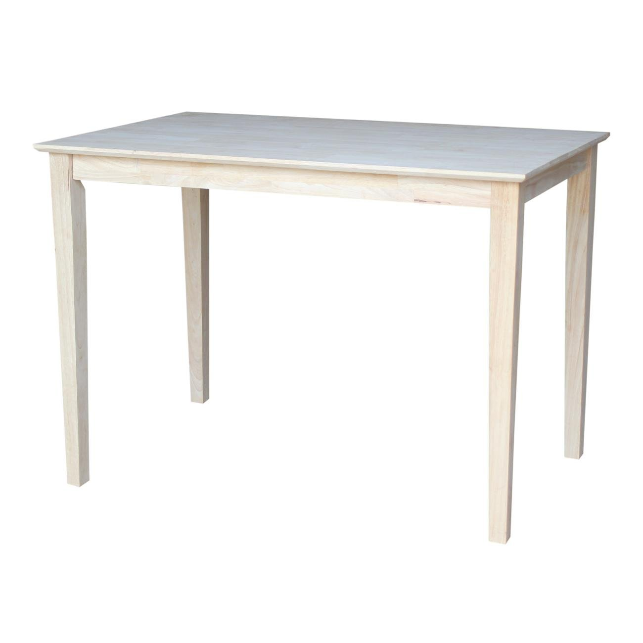 International Concepts K-3048-36S Solid Wood Top Dining Table, 30 x 48, Unfinished