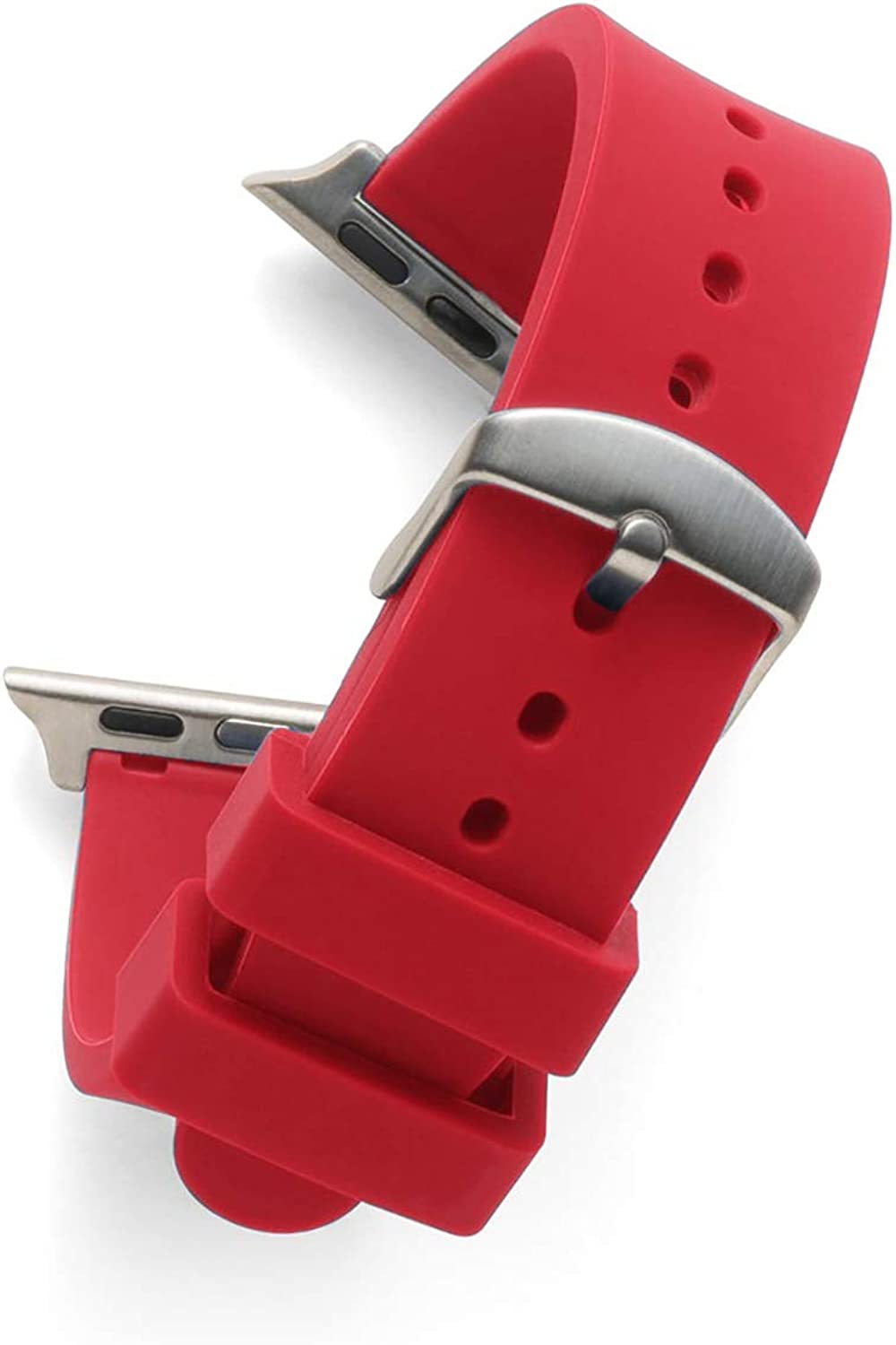 Speidel Replacement Watchband for The Apple Watch Series 1,2,3,4 & 5 in Match Scrub Color, Multiple Color Options