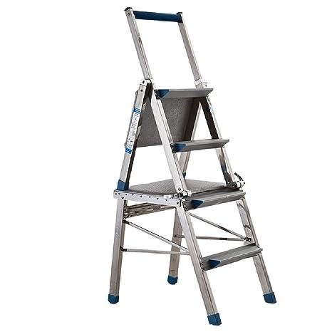 ZXQZ Taburete de Escalera Taburete de Escalera de Acero ...