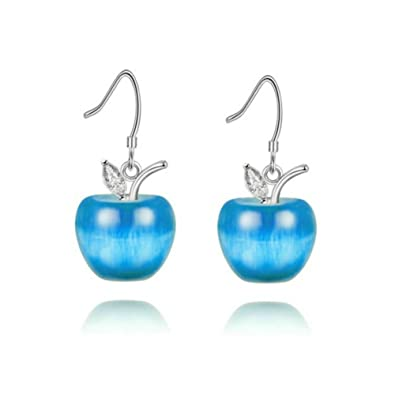 741dc6aa6 Uloveido Simulated Aquamarine Fruit Apple Shape Stud Earrings Set for Girls  Women for March Birthstone YL007-E: Amazon.co.uk: Jewellery