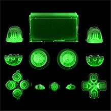 Replacement Full Buttons Custom Mod Kit Set for Sony Playstation 4 PS4 Controller Clear (Can give out light in night)