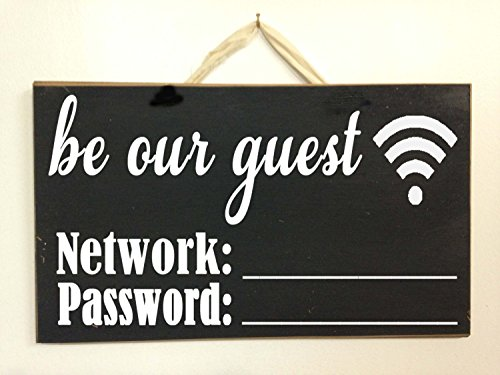 Used, LOUISF Be Our Guest Network Password Sign Share WiFi for sale  Delivered anywhere in Canada