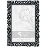 malden international designs morgan pewter metal picture frame 4x6 silver