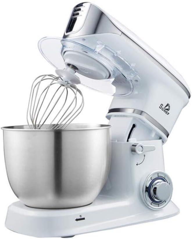 AJH Batidora de pie, batidora eléctrica de Huevos, Cocina, máquina para el hogar y Pasta, diseño de Cabeza con un Clic, Acero Inoxidable, con pies Antideslizantes, rápido y eficiente