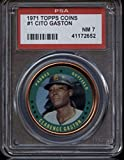 1971 Topps #1 Clarence Gaston PSA 7 Near Mint Padres