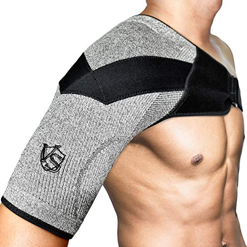 Vital Salveo-Shoulder Compression Brace with Support,Stability,Breathable and Light for Shoulder Pain and Prevent Injuries,Dislocated AC Joint,Frozen Pain,Rotator Cuff,Tendinitis,Labrum Tear-L(1PC) (Best Shoulder Brace To Prevent Dislocation)