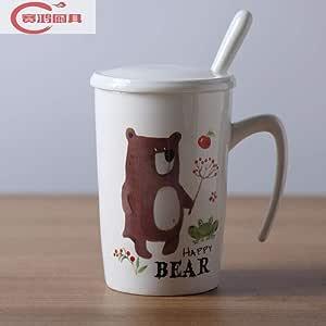 Taza de cerámica taza de café taza pareja taza con tapa