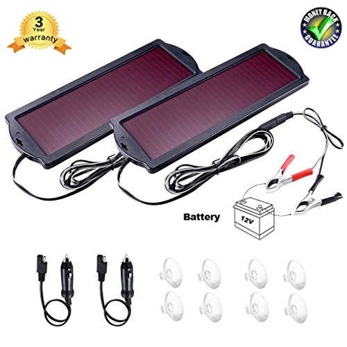 Solar Powered Car Battery Charger 12V - 6