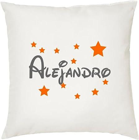 Cojines Infantiles con el Nombre Alejandro 45 X45 cm