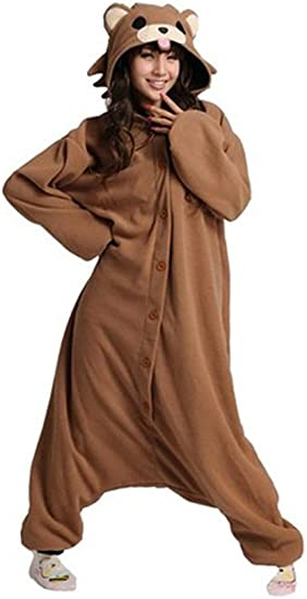 X-Large,Brown Bear WOTOGOLD Animal Cosplay Costume Bear Unisex Adult Pajamas