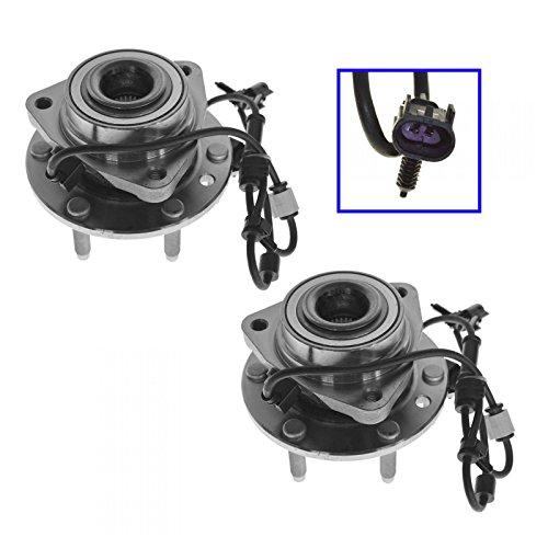 - Front Wheel Hub & Bearing Pair Set for Trailblazer Envoy w/ABS 6 Lug