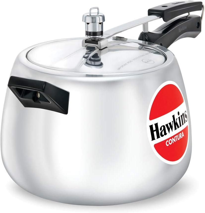 Hawkins HC65 Contura 6.5-Liter Pressure Cooker, Small, Aluminum