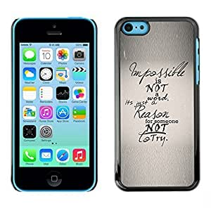 New Fashion Case BLOKK case cover / Apple iphone 6 plus / impossible not inspiring reason text paper / ubKXcnyWRaD Slim Black Plastic case cover case cover Armor
