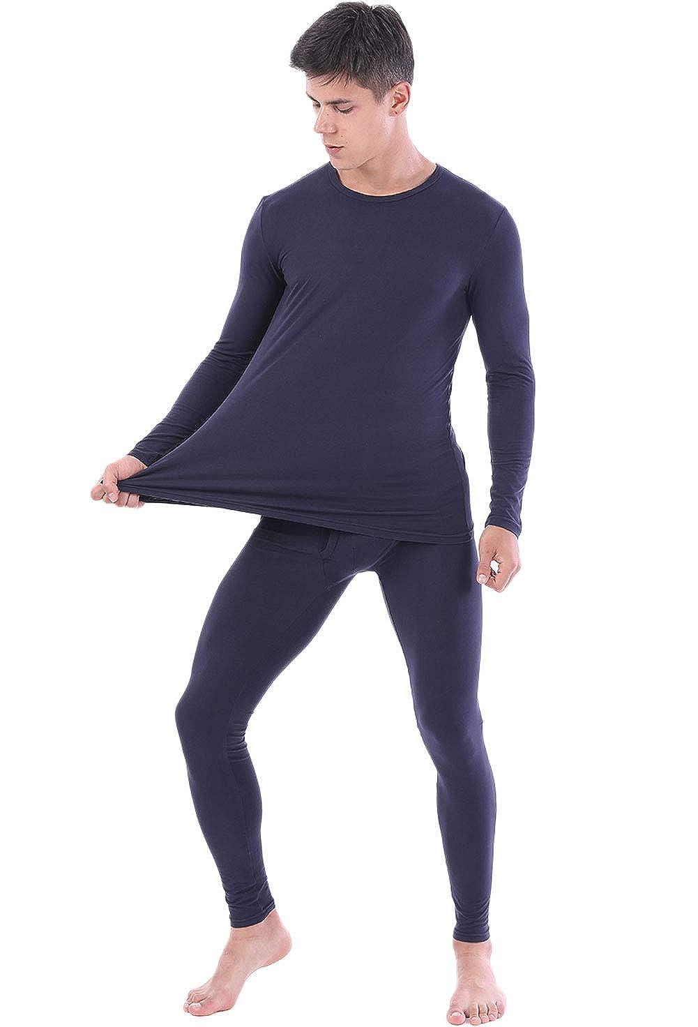 2Pcs//Set Women Soft Winter Warm Underwear Tops Bottoming Pajamas Set Long Pants