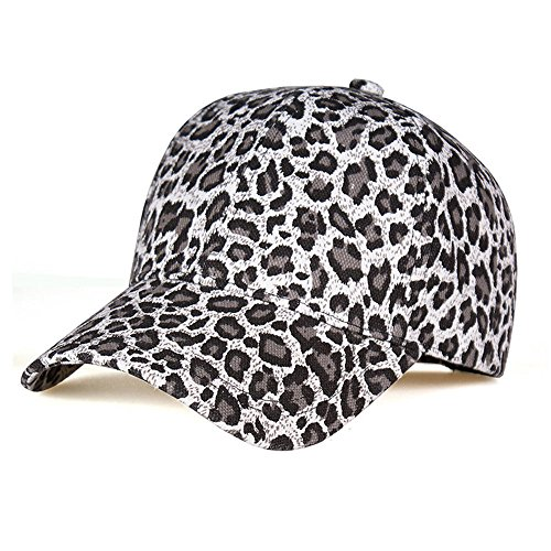 (LIXYIT Unisex Classic Cotton Leopard Baseball Cap Women Dad Hat Adjustable Plain Caps)