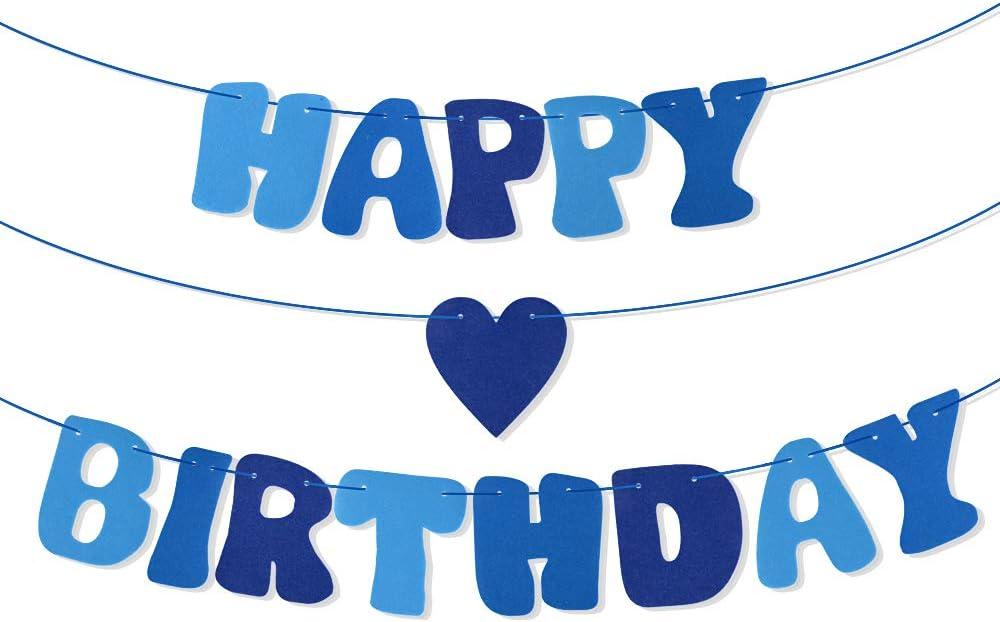 Multicolore VINFUTUR Happy Birthday Banni/ère en Feutre Guirlande Happy Birthday Banner D/écorations de F/ête dAnniversaires Party pour Filles Gar/çon