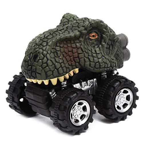 IEnkidu Animals Dinosaur Cars Pull Back Car Kids Fun Toys Boys Gifts (Type1 Tyrannosaurus Rex)