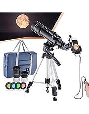 Brekende professionele astronomische telescoop, HD hoge vergroting, tweeërlei gebruik, geschikt voor volwassenen of kinderen beginners, draagbaar en uitgerust met statief, smartphoneadapter