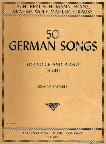 (50 German Songs for Voice and Piano (High))