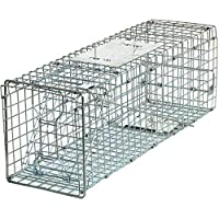 HomGarden Live Animal Trap Catch Release Humane Rodent Cage for Rabbit, Groundhog, Stray Cat, Squirrel, Raccoon, Mole, Gopher, Chicken, Opossum & Chipmunks Nuisance Rodents 32inch