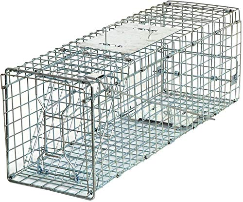 HomGarden Live Animal Trap Catch Release Humane Rodent Cage for Rabbit, Groundhog, Stray Cat, Squirrel, Raccoon, Mole, Gopher, Chicken, Opossum & Chipmunks Nuisance Rodents 24inch