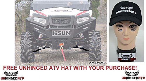 Super ATV HISUN Sector High Clearance A-Arms and FREE Unhinged ATV HAT! bundle 2 items by SuperATV.com