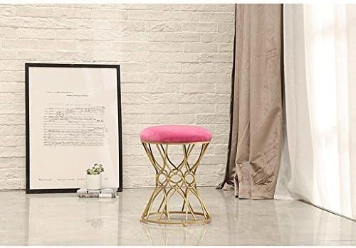 Chaises Tabouret de maquillage de mode Dressing tabouret chambre princesse chaise chaussure banc à manger chaise (Couleur : Red, taille : H45CM)