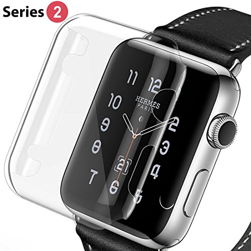 Apple Watch 2 Protective Case, ToHayie Apple Watch 2 Case HD Clear PC Ultra Thin Screen Protector Replacements Cover Case for Apple Watch Series 2 42mm