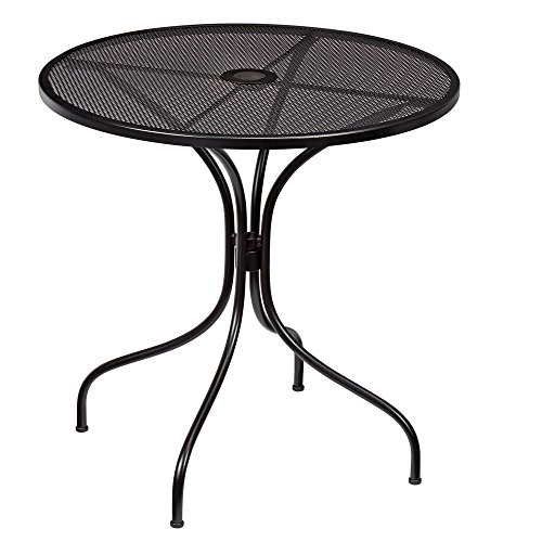 Nantucket Round Metal Outdoor Bistro Table (Round Metal Patio Table)