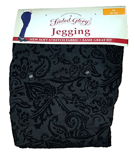 Faded Glory Black Flock Knit Jegging - X-Small from Faded Glory