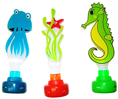 - Water Sports Lighted Dive Pals Pool Accessory (3 Piece), Assorted Colors, 8